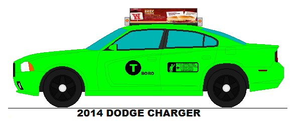 611x241 Nyc Green Taxi 2014 Dodge Charger By Geistcode