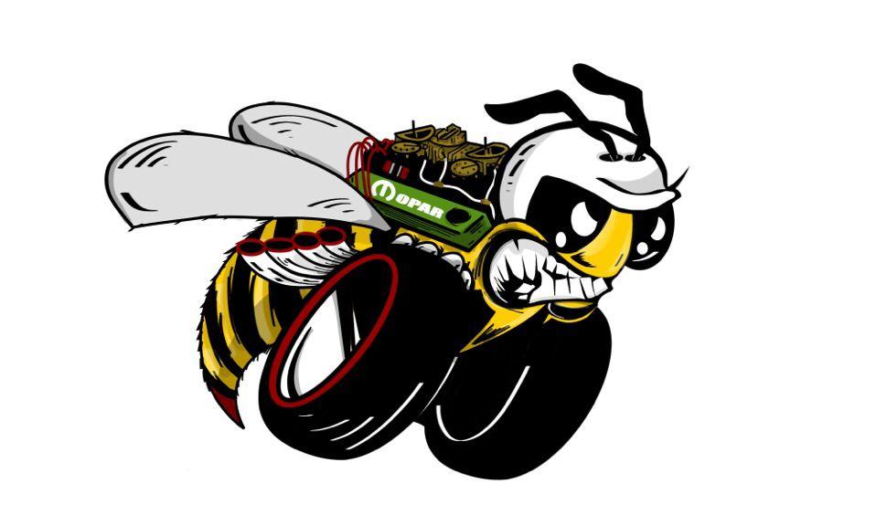 958x576 Crazy Scat Pack Super Bee 340 6 Pack Art By Josh Whitebird