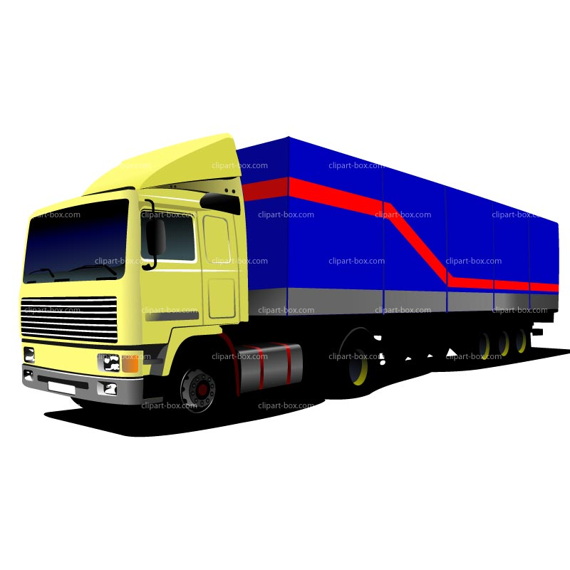 800x800 Clipart Semi Truck And Trailer