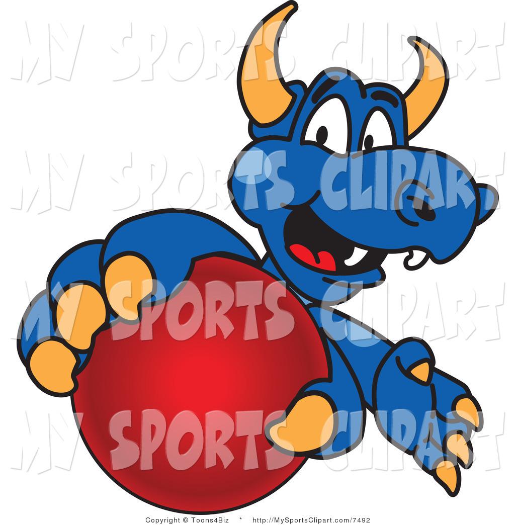 1024x1044 Sports Clip Art Of A Dragon Mascot Grabbing A Ball By Toons4biz