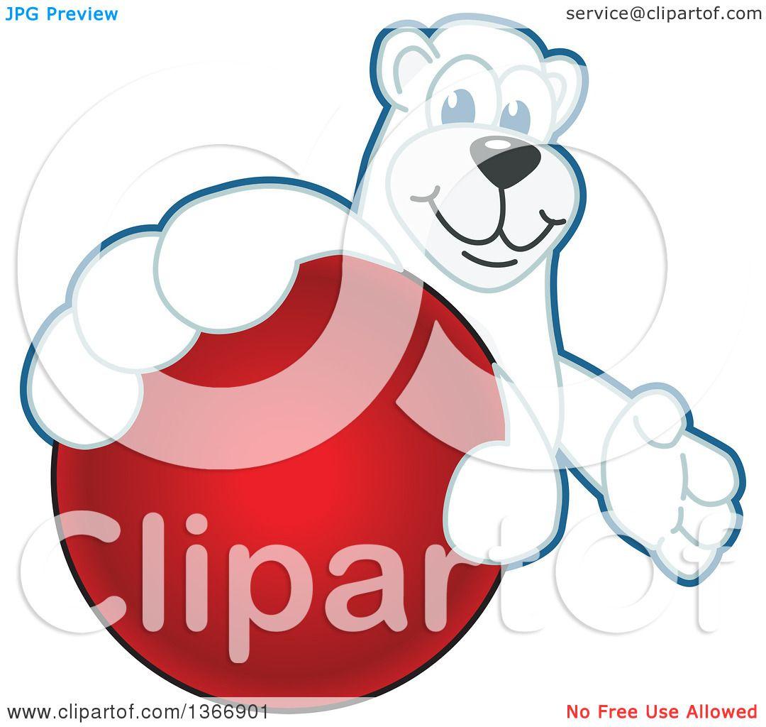 1080x1024 Clipart Of Polar Bear School Mascot Character Grabbing