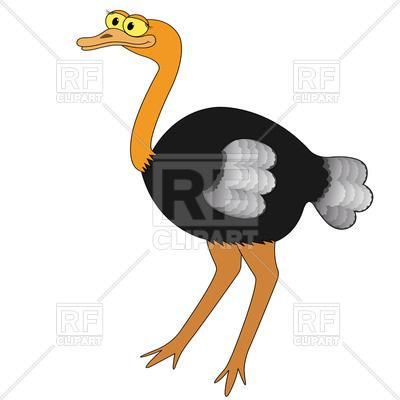 400x400 Cute Cartoon Ostrich Royalty Free Vector Clip Art Image