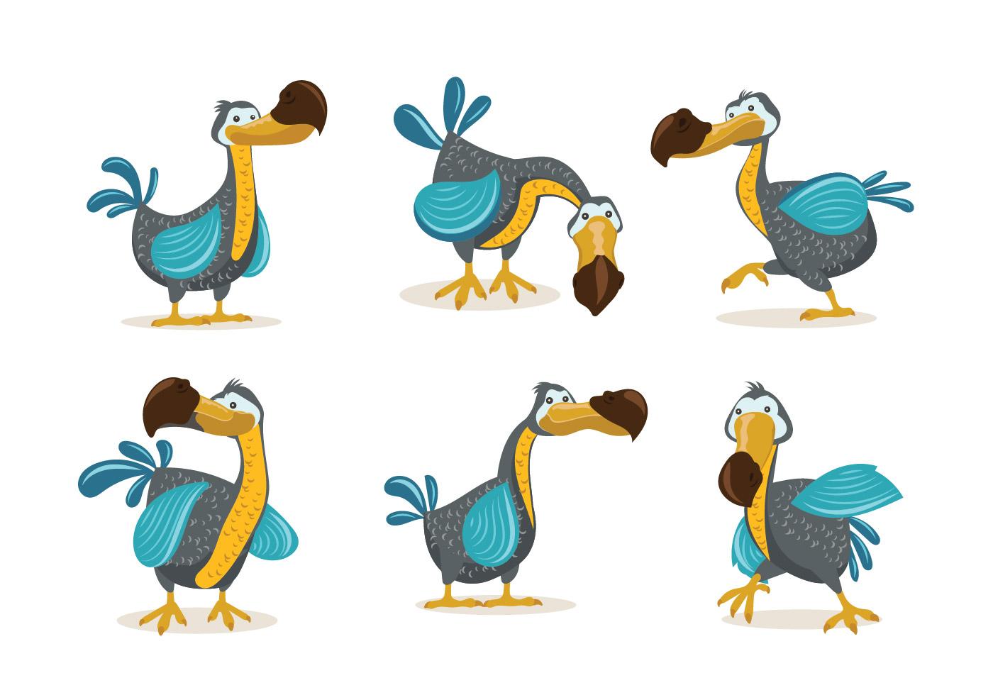 1400x980 Dodo Bird Illustration Cartoon Style