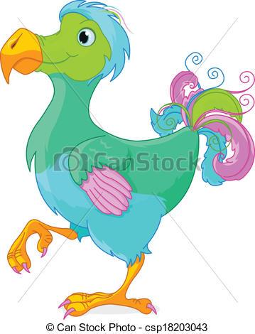 359x470 Illustration Of Cute Dodo Bird Eps Vector