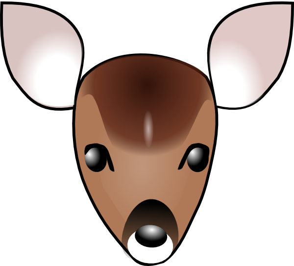 600x543 Collection Of Doe Head Clipart High Quality, Free Cliparts