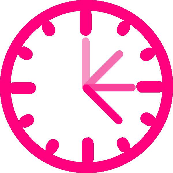 600x600 Pink Clock Clipart Amp Pink Clock Clip Art Images