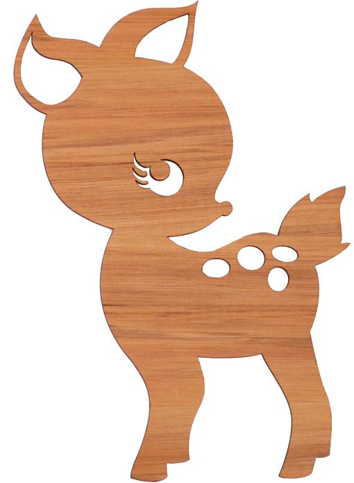 510x695 Baby Deer Silhouette Group