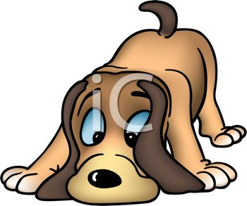 350x292 Picture Of A Cartoon Dog Sniffing The Ground In A Vector Clip Art