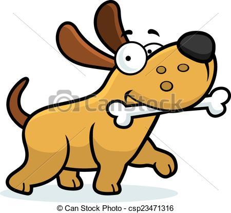 450x414 Cartoon Dog Bone. A Cartoon Illustration Of A Dog With A Bone.