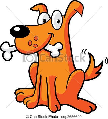 427x470 Dog Bone. A Cartoon Dog With A Bone. Eps Vectors
