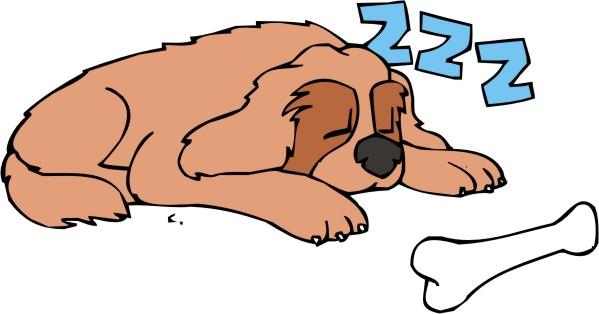 599x314 Homey Sleeping Dog Clip Art Cartoon Free Download