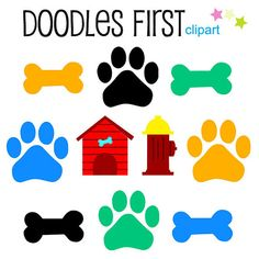 236x236 Petshop Animals And Accesories Digital Clip Art By Doodlesfirst
