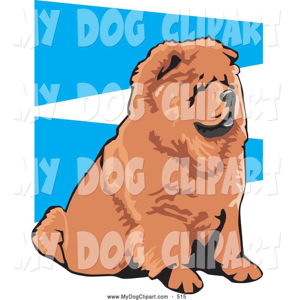 1024x1044 Clip Art Of A Cute And Obedient Brown Chow Chow Dog With A Black