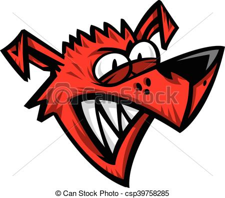 450x396 Crazy Dog Cartoon Vector Vector