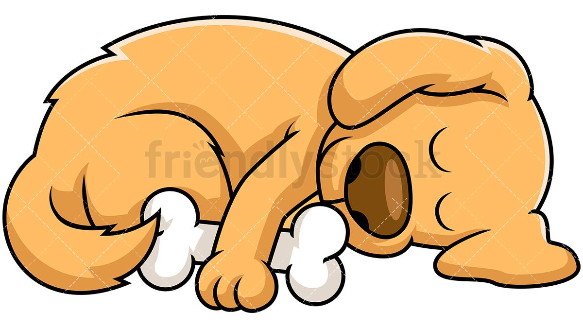 1200x675 Sleeping Dog Cartoon Vector Clipart