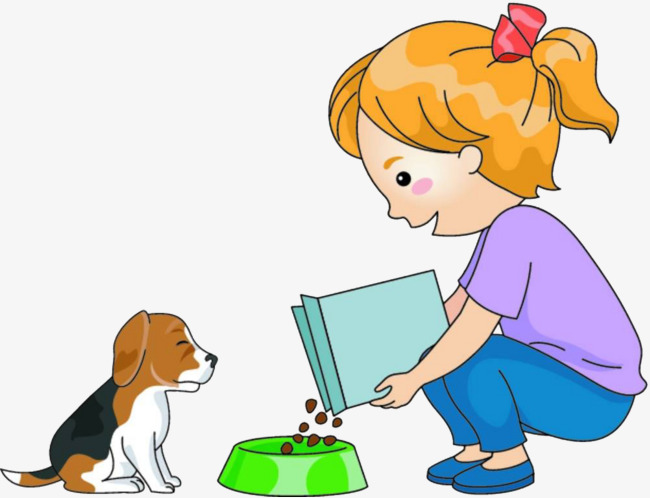 650x498 The Child Feeds The Dog, Child, Feed The Dog, Dog Food Png Image
