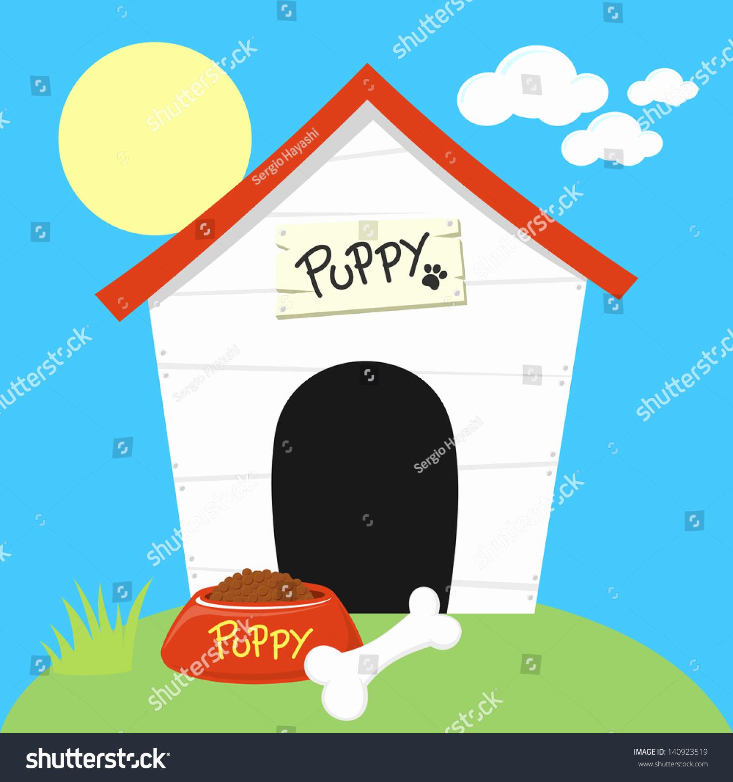1500x1600 Clipart Dog House Luxury Dog Houses Digital Clip Art
