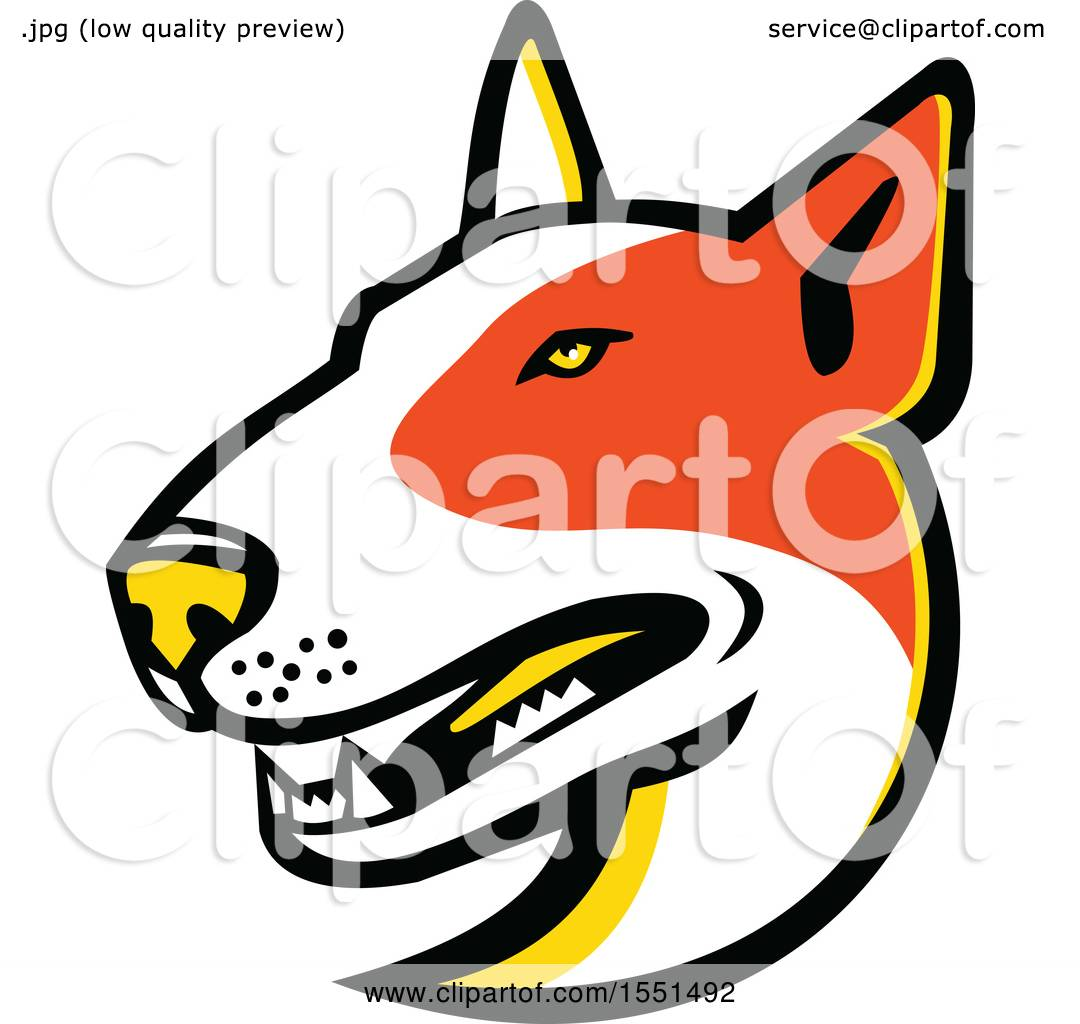 1080x1024 Clipart Of A Bull Terrier Dog Mascot Head