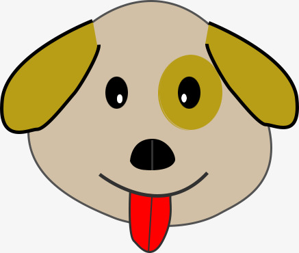 437x370 Dog Head Picture, Cartoon, Spit Tongue Dog, Cute Dog Png Image