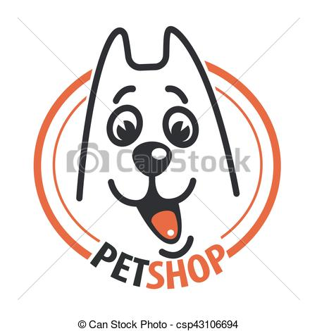 450x470 Pet Shop With A Dog Head. Vector Illustration Eps Vectors