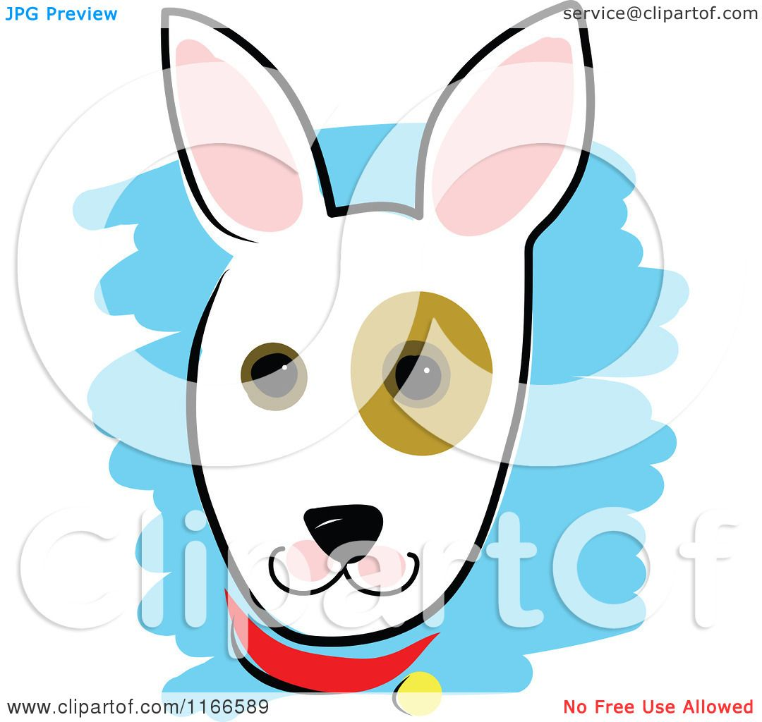 1080x1024 Cartoon Of A Cute Dog Head With A Spot Around The Eye