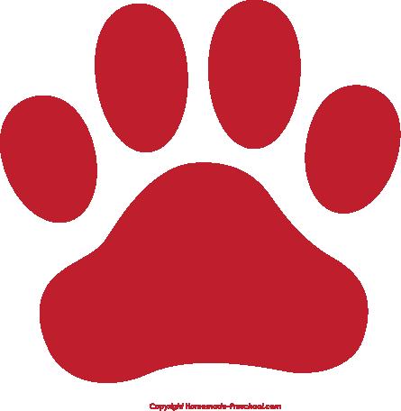 445x456 Dog Paw Print Clip Art Free Download