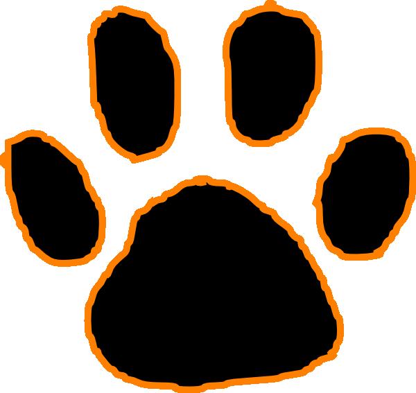 600x567 Free Tiger Pawprint Clipart