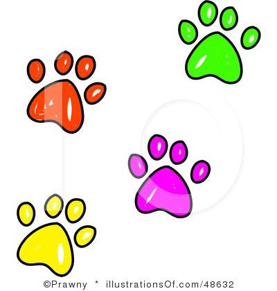 400x420 Pet Paw Prints Border Clip Art Clipart Panda