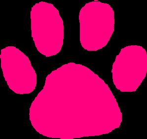 298x282 Pink Paw Print Clip Art Vector Clipart Panda