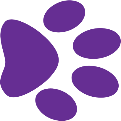 409x408 Purple Paw Print Clip Art Paw Clipart Purple Pencil And In Color