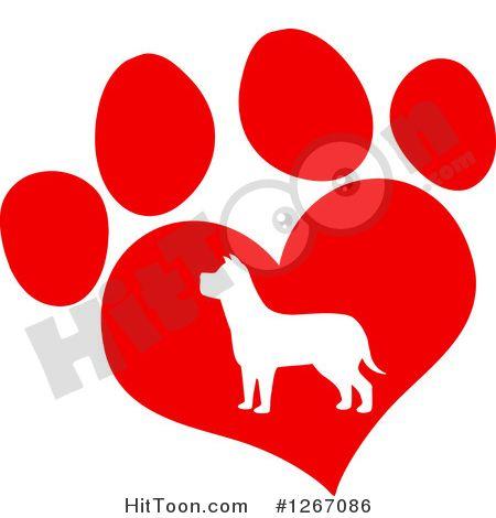 450x470 Fresh Dog Paws Clipart Heart