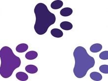 220x165 Purple Paw Prints Glitter Purple Paw Prints Temporary Tattoos