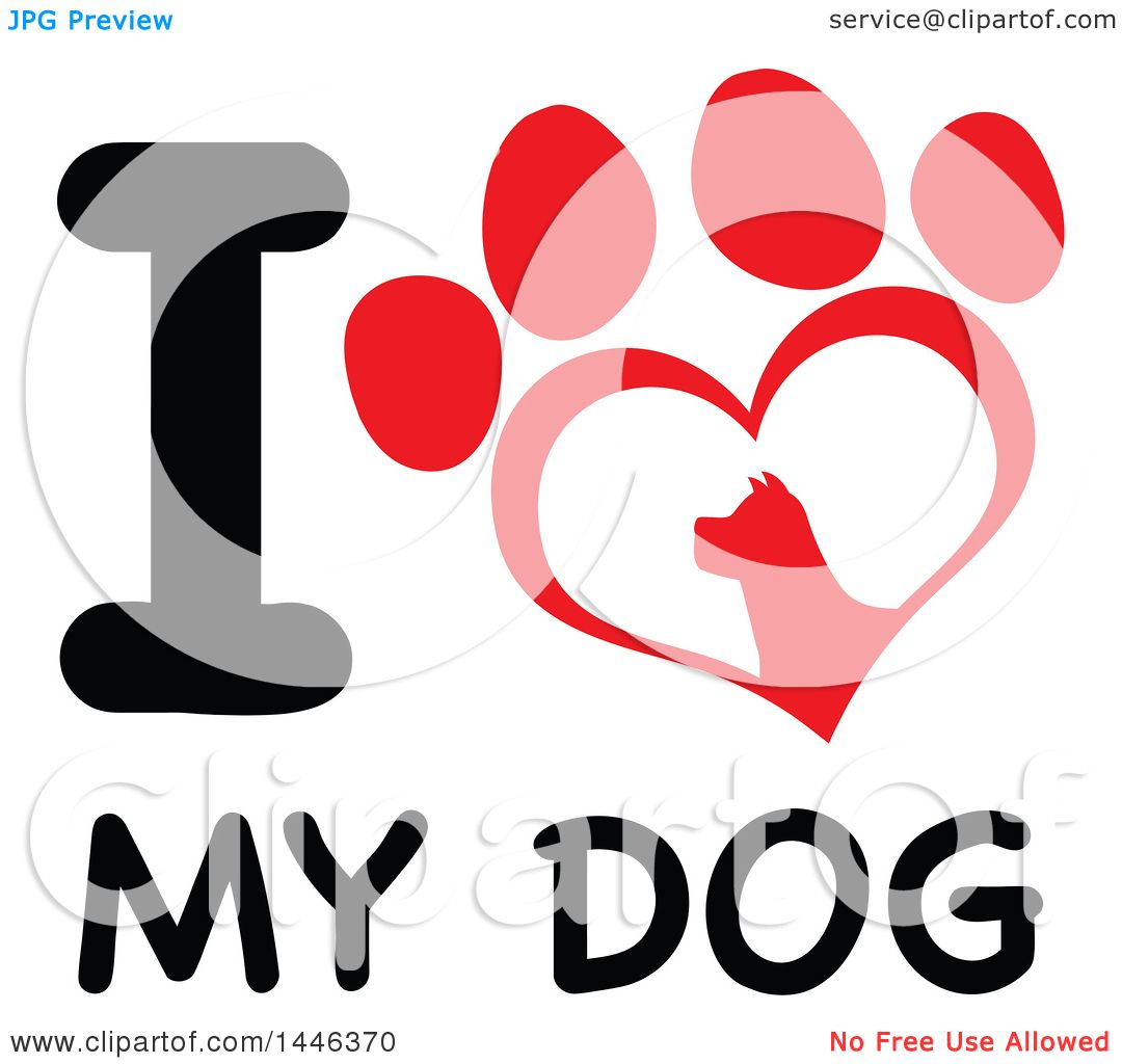 1080x1024 Clipart Of A Letter I And Heart Shaped Dog Paw Print Over Text, I