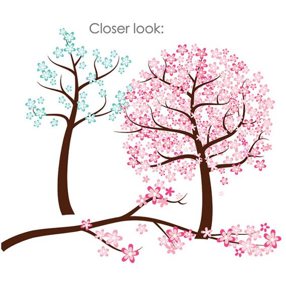 564x564 Clip Art Spring Trees In Bloom Clipart