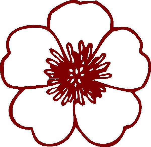 600x582 Dogwood Blossom Clip Art