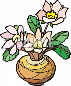 249x300 Dogwood Flowers In A Vase Clip Art Image