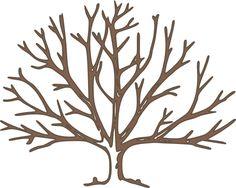 236x188 Dogwood Tree Outline