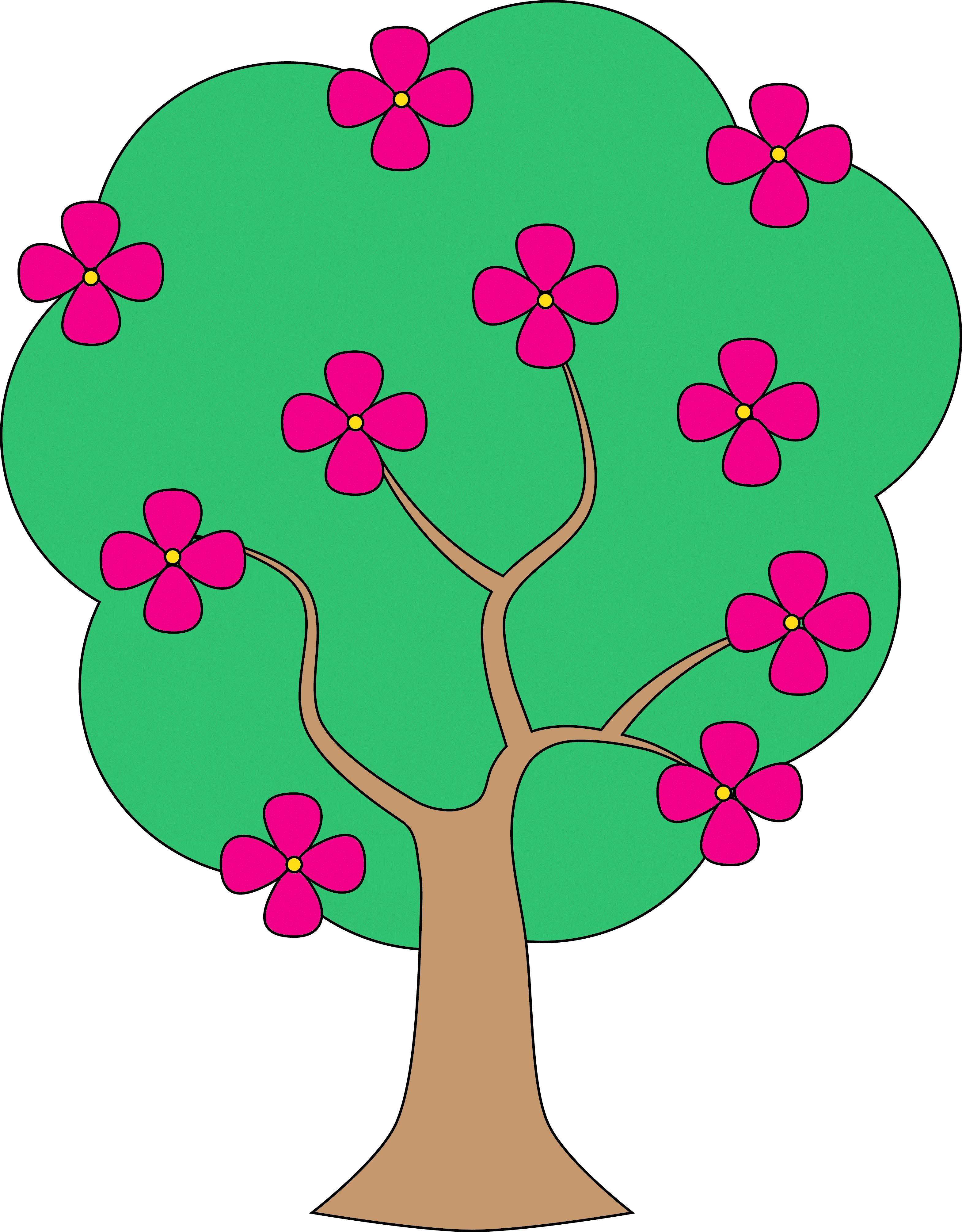 3139x4019 Flower Tree Cliparts
