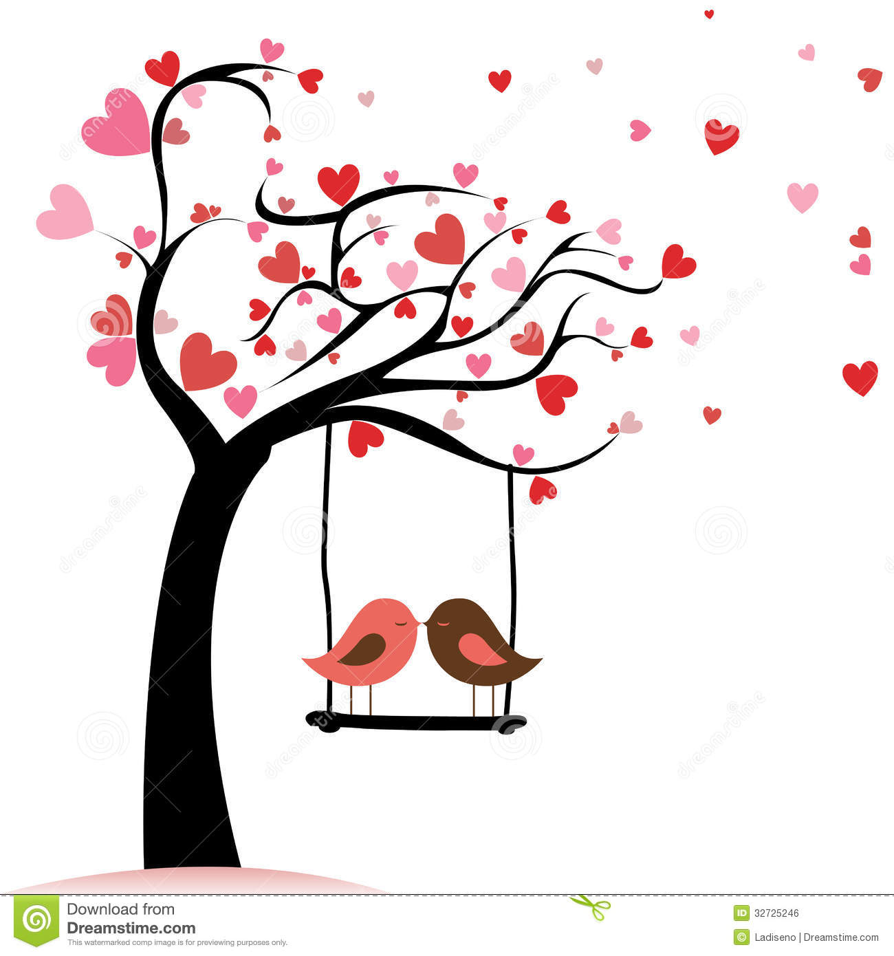 1300x1390 Blossom Clipart Love Bird Tree Free Collection Download