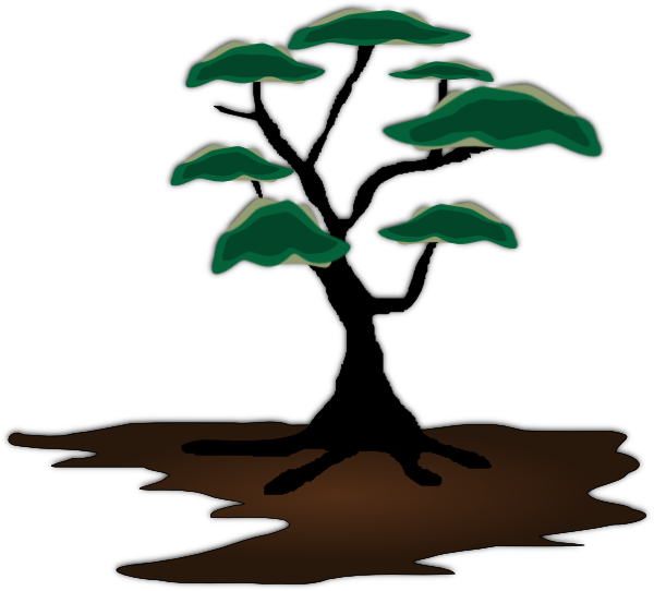 600x542 Clip Art Mesquite Tree