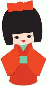 166x300 Clipart Japanese Girl Cute Little Vector Illustration Royalty Free