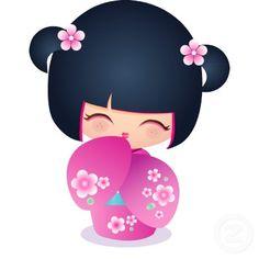 236x236 Kokeshi Doll Clipart