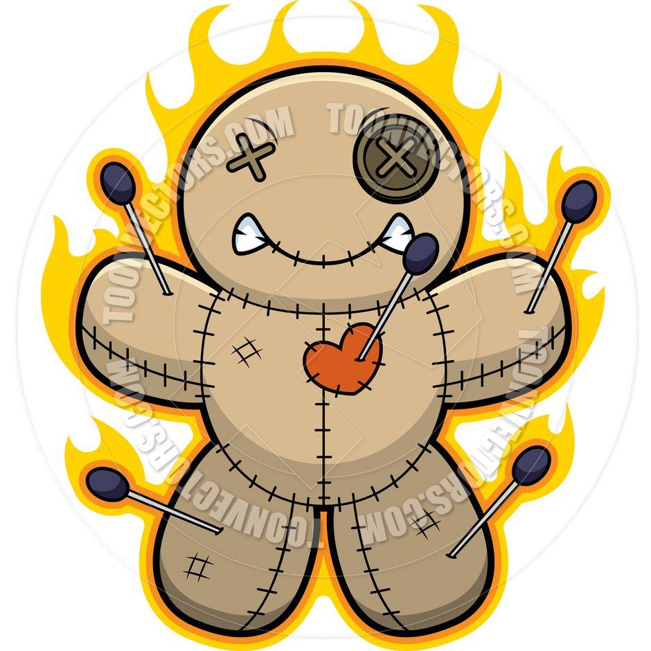 940x940 Voodoo Doll Clipart Cartoon Voodoo Doll Flames Team Building