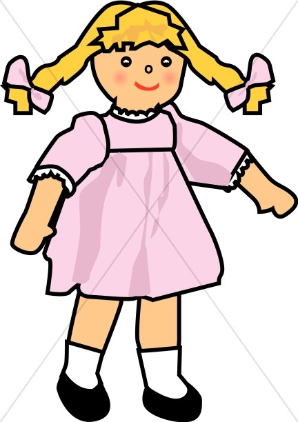 432x612 Baby Girl Doll Religious Baby Clipart