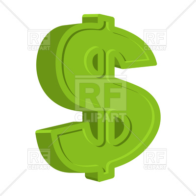 400x400 Dollar Sign Royalty Free Vector Clip Art Image