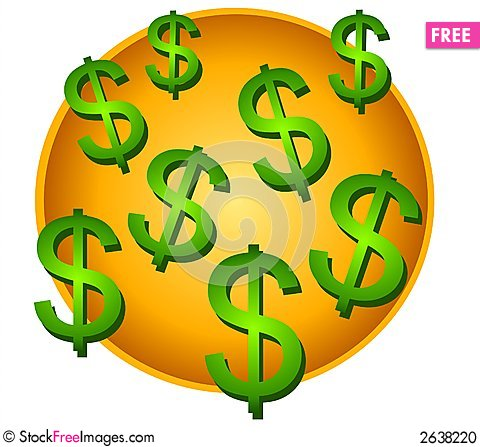 480x447 Lots Of Dollar Signs Clip Art
