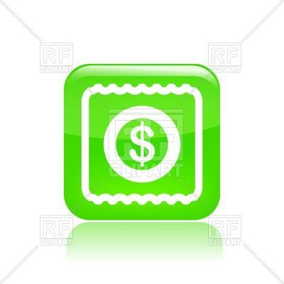 400x400 Cash Icon With Dollar Symbol Royalty Free Vector Clip Art Image