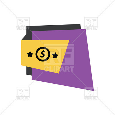 400x400 Purple Label With Dollar Sign Royalty Free Vector Clip Art Image