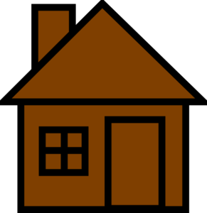 291x300 Brown House Clipart