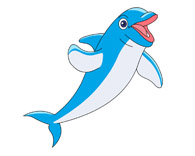 195x156 Free Dolphin Clipart